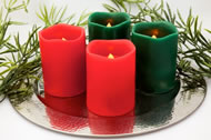 Endless Candles Wavy Edge Pillar Candles (Colored)