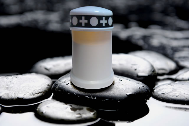 Small LED lantern (memorial candle or if tape is removed, use as regular outdoor lantern)